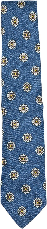 Luigi Borrelli Men's Geometric Floral Silk Tie Necktie