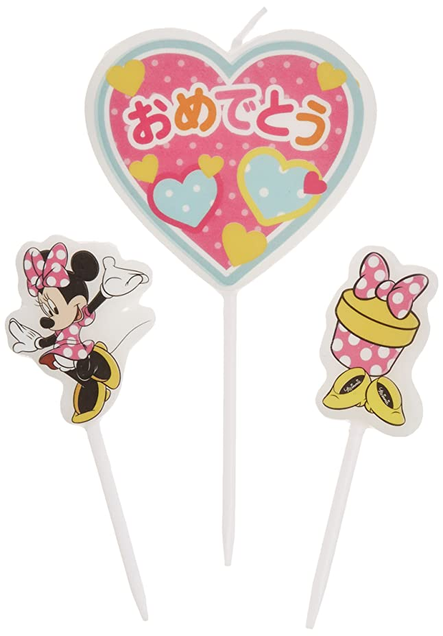 爵子猫家事ディズニーパーティーキャンドル【ケーキ用キャンドル】 「 ミニー 」