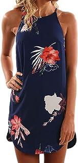 Asvivid Womens Summer Halter Neck Floral Print Sleeveless...