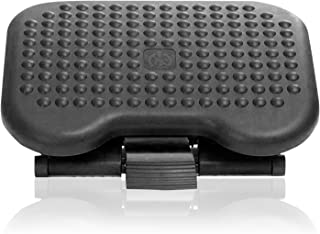 "Under Desk Foot Rest, Black Footstool & Office Ergonomic Footrest, Adjustable Angle & 3 Different Height Positions, 18.1"" ..."