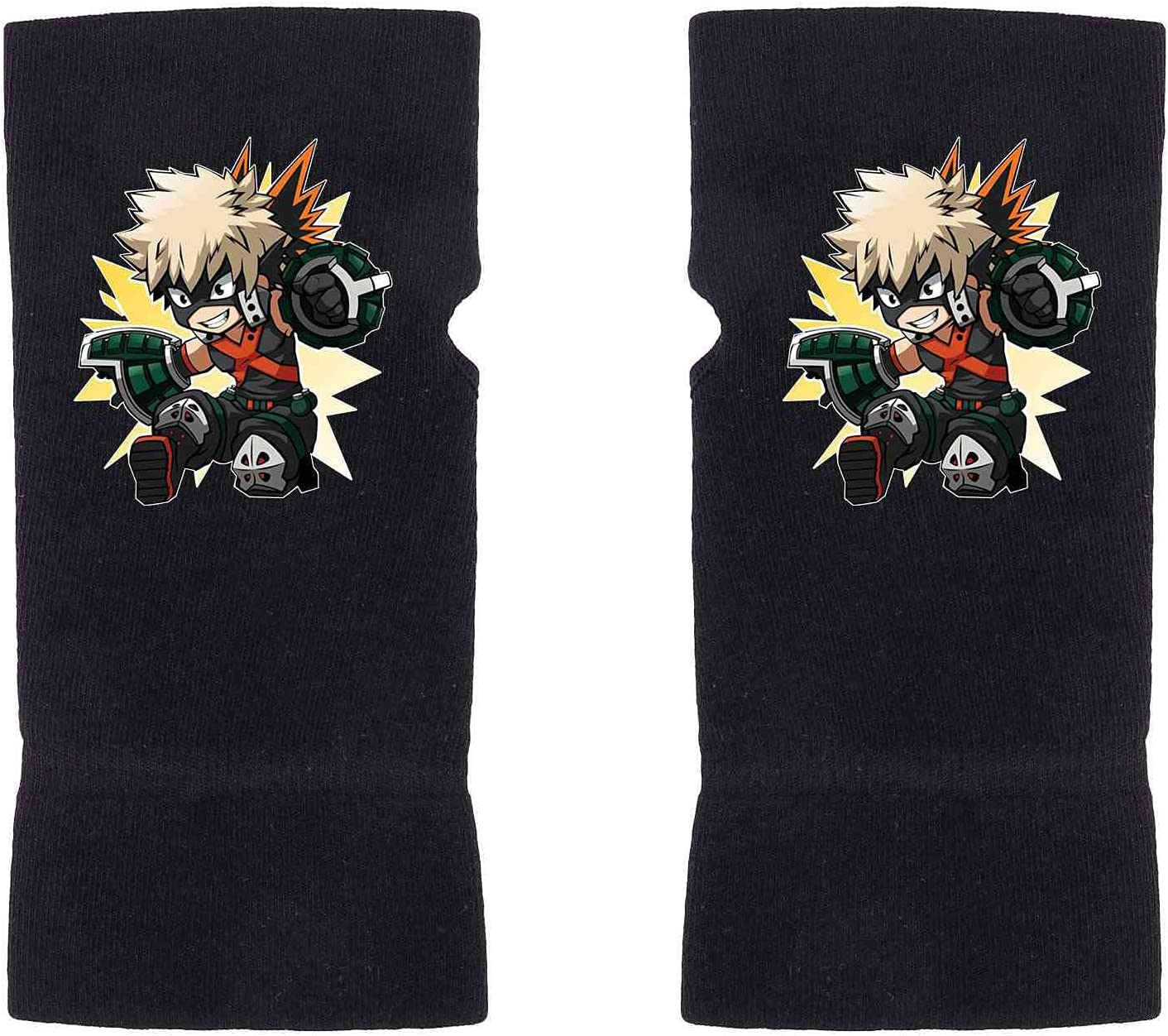 GBaoY My Hero Academia Fingerless Gloves Deku MHA Anime Mittens Winter Knitting Gloves