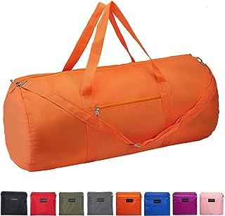 Vorspack Duffel Bag 28 Inches Foldable Lightweight Gym Bag with Inner Pocket for Travel Sports - Orange