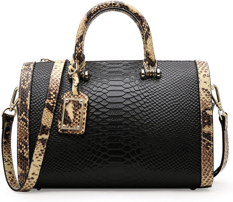 Ladies Handbag Summer Handbags Serpent Shoulder Shoulder Messenger Bag Ladies Bag (color   Black, Size   31  15  20cm)