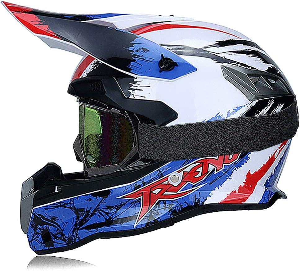 Fengcheng Qtech Kinder Motocross Mx Helm Mx Motorrad D O T Zertifizierte Bmx Quad Atv Motorradhelm Geschenkbrillen Handschuhe Maske Brille Sport Freizeit
