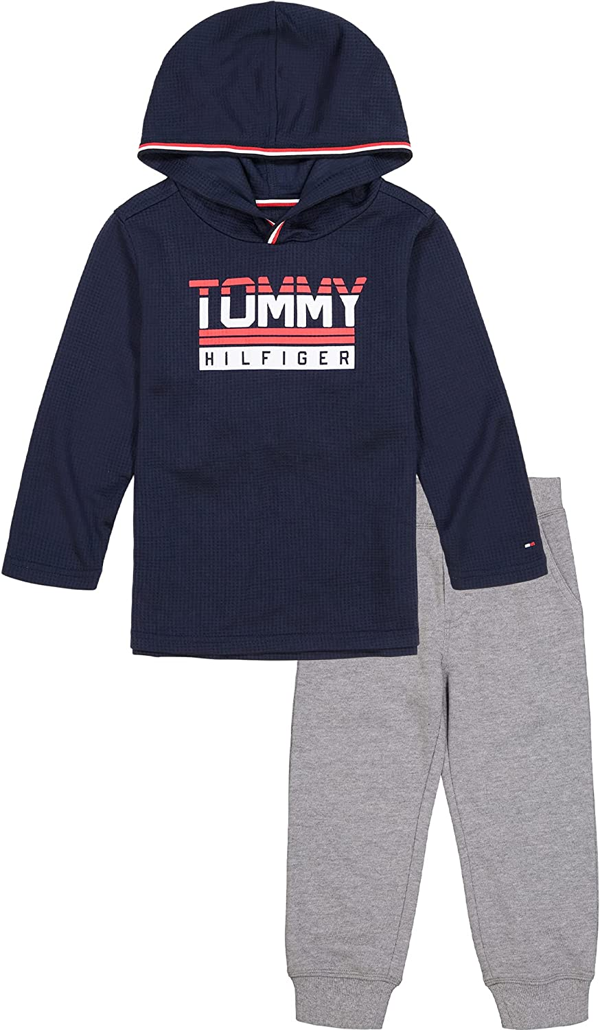 Tommy Hilfiger Baby Boys' 2 Pieces Hooded Pants Set