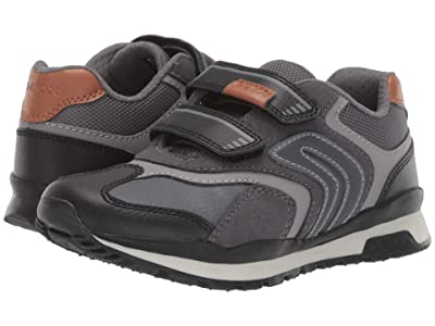 Geox Kids Jr Pavel 23 (Little Kid/Big Kid) (Black/Charcoal 2) Boys Shoes