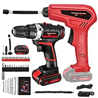 KKTECT Cordless Drill and Tire Inflator Air Compressor Combo Kit Deals