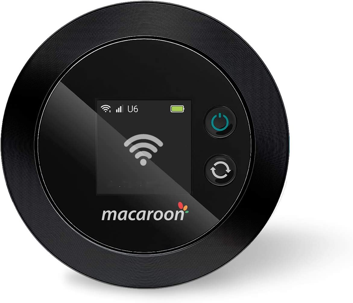 Macaroon Mobile Wi-Fi Hotspot Device High Speed Wi-Fi Portable Router with US 20GB Data 30 Days, No SIM-Card, Pocket Wi-Fi, Free Roaming, Worldwide, Travel, Home, M1 (M1-20G-30DAYS)