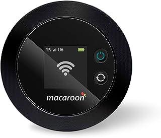 Macaroon ポケットwifi simフリー wifi モバイルルーター wifi ルーター 無線 携帯 旅行 海外 4GLTE 世界200国・地域以上対応 50GB分の日本データ付け M1