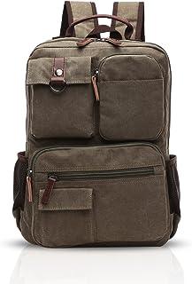 FANDARE Retro Hombres Mochila Business Multi-Bolsillo Rucksack Commuter Estudiante Outdoor Viaje Daypack Transpirable Lien...