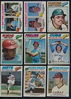 1977 Topps Baseball Complete 660 Card Set . Contains Andre Dawson, Dale Murphy Rookies, Hall of Famers Such As Nolan Ryan , Mike Schmidt, Reggie Jackson , George Brett and Many More VG/Ex condition