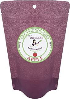 The Beet Lady - Beet Superfood Powder, Organic - 30 Flavors - 5.4 oz (Apple)