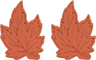 Brown Sugar Bear Original Brown Sugar Saver and Softener, Terracotta, Maple Leaf, Set of 2