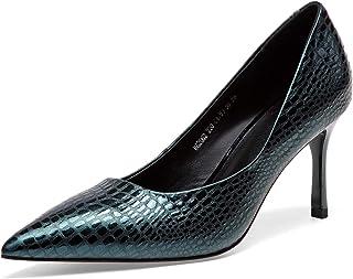 [チカル] レディース パンプス ハイヒール パンプス ポインテッドトゥ 手造り ピンヒールパンプス 靴 美脚 7.5cm ヒール シューズ 牛革 レザー 本革 カジュアル OL 通勤 ビジネス 結婚式 中敷きクッション 歩きやすい