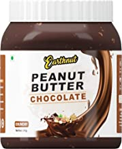 Earthnut Chocolate Peanut Butter Crunchy 1kg (Chocolate Flavor) (Gluten Free | Non-GMO | Vegan)