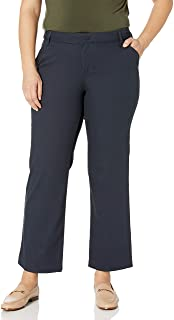 Dickies Women's Relaxed Straight Stretch Twill Pant, Dark Navy, 8 Long