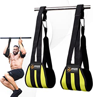 DMoose Fitness Hanging Ab Straps for Abdominal Muscle Building and Core Strength Training, Adjustable Arm Support for Ab Workouts, Padded Gym Equipment for Men and Women