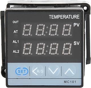 LANTRO JS - MC101 Cyfrowy przekaźnik regulatora temperatury PID/wyjście SSR, podwójny wyświetlacz ręczny/automatyczny regu...