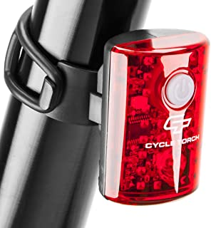 Cycle Torch USB Rechargeable Bike Tail Light MicroBot LED Bicycle Taillight for City Commuters, Kids & Cyclists | Small Detachable Rear Safety Red Bicycle Blinker