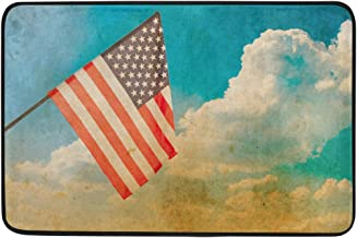 Mydaily American Flag Blue Sky Memorial Day Doormat 15.7 x 23.6 inch, Living Room Bedroom Kitchen Bathroom Decorative Ligh...