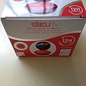 Pack Sileu Travel: Copa menstrual Rose - Modelo de iniciación - Talla S, Rojo, Flexibilidad Standard + Estuche de Flor Rojo + Esterilizador Plegable, ...
