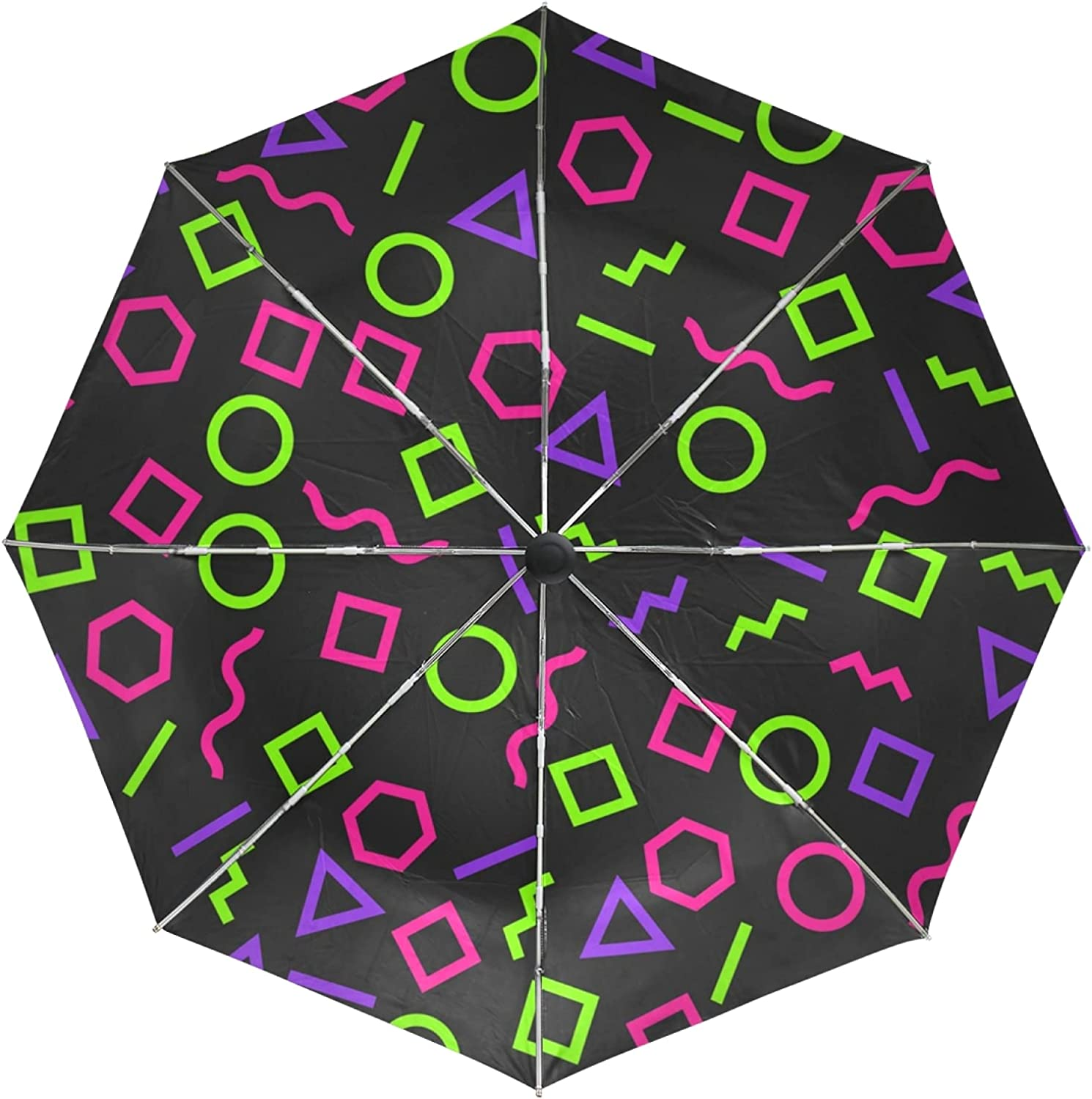 Geometric Abstract Art Automatic Animer and price revision Classic Umbrella Protection UV Foldable