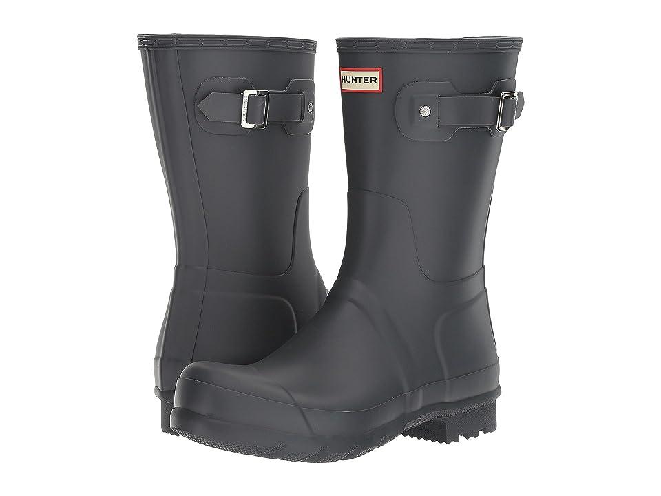 Hunter Original Short Rain Boots (Dark Slate) Men