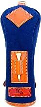 K& HC-TEE-PICT ヘッドカバー 番手 UTサイズ バケッタレザー (fieno) × 帆布 (ネイビー色) ユーティリティ レザー×キャンバス