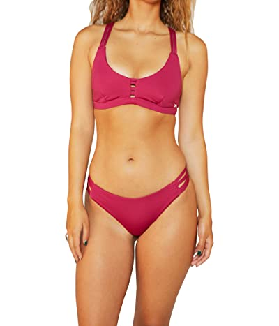 Hurley Max Solid Moderate Bottoms Women