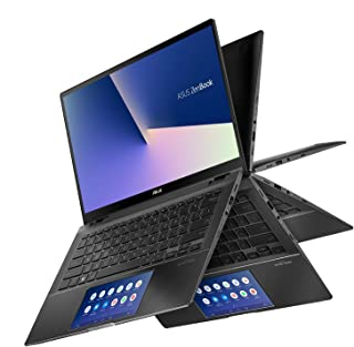 Asus ZenBook Flip UX463FL-AI025T Convertible Ultrabook (Gun Grey) - Intel i7-10510U 1.8 GHz, 16 GB RAM, 1000 GB SSD, Nvidia GeForce MX250, 14 inches, Windows 10 Home, Eng-Arb-KB