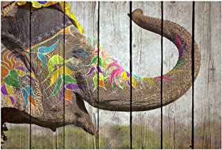 ARTESTOCK Cuadro Madera 60 x 40 cm. Lámina barnizada con Efecto palé. Especial, Animales Ref. 469895V (Diseño 7)
