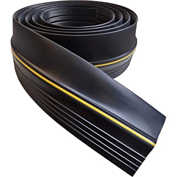 Universal 20ft Garage Door Seal Bottom Threshold Seal, DIY Rubber Weather Stripping Replacement Easy Installation, [Not Include Sealant/Adhesive] (20ft, Black)