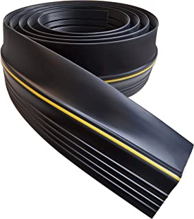 Universal Garage Door Threshold Seal DIY Weather Stripping 20 Feet Length (20ft, Black)