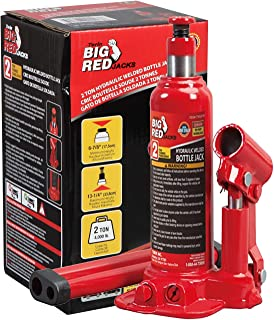 BIG RED T90203B Torin Hydraulic Welded Bottle Jack, 2 Ton (4,000 lb) Capacity