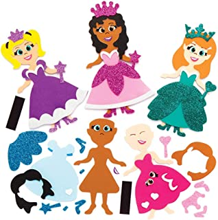 Baker Ross Kits de princesses aimantées à assortir, idéal pour les arts et l'artisanat des enfants (paquet de 8)