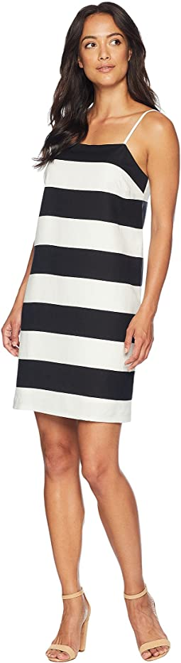 Spaghetti Stap Carnival Stripe Shift Dress