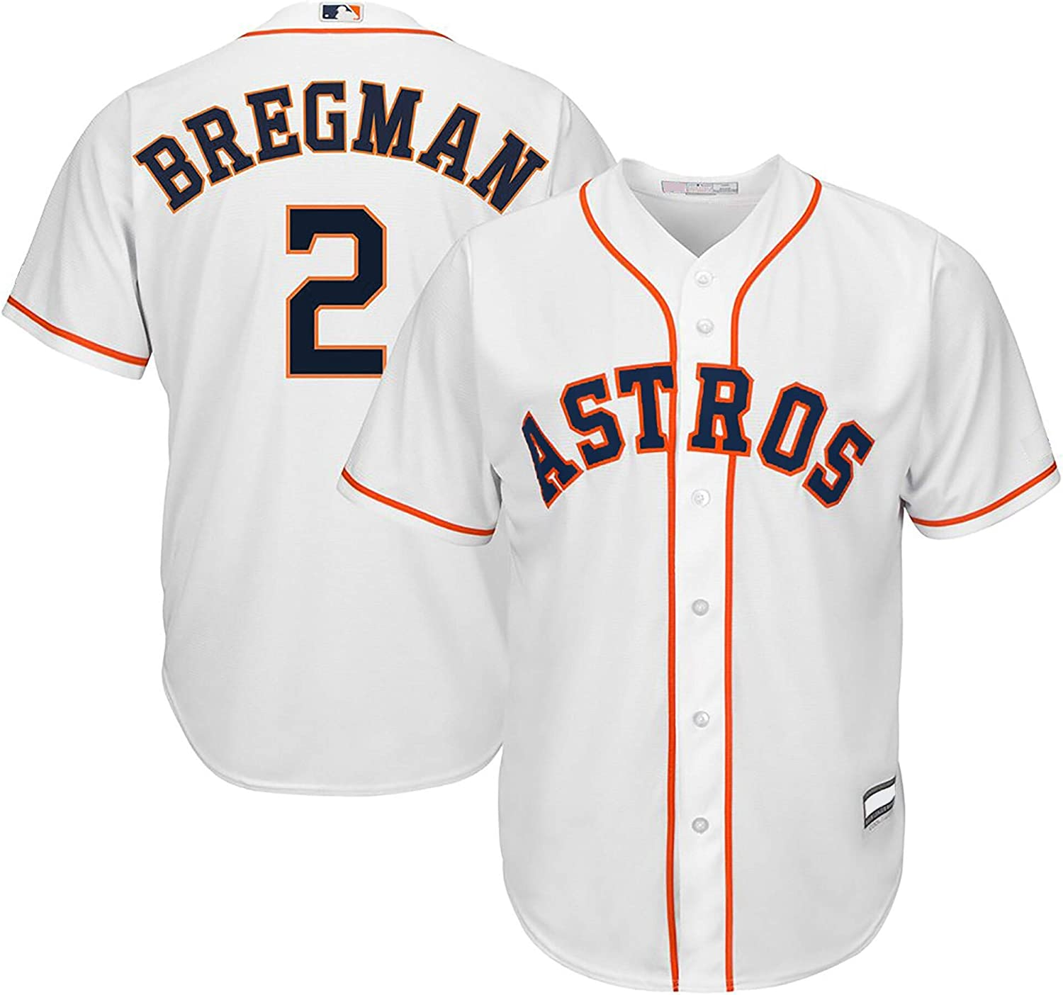 Outerstuff Alex Bregman Astros MLB Boys Youth 8-20 Cool Base Player Jersey