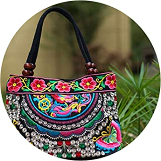 Vintage Ethnic embroidery bags Chinese style Embroidered lady Travel handbag Bolsos