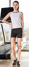 GITVIENAR Saunapak zweetpak voor dames, elastische sportkleding, zweten, lichaamsvormer, gewichtsverlies, trainingspak, sp...
