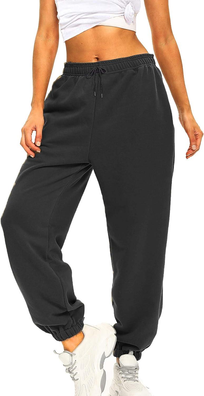 Ausook Womens Sweatpants for Women Sweatpants Sweat Pants Joggers for Women High Waist Lounge Jogger Pants for Women Pockets