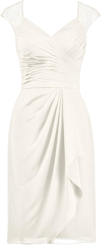 Alicepub Illusion Neckline Bridesmaid Dress Short Cocktail Evening Party Gown