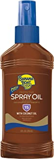 Banana Boat Sunscreen Protective Tanning Oil Broad Spectrum Sun Care Sunscreen Spray - SPF 15, 8 Ounce (Pack of 3)