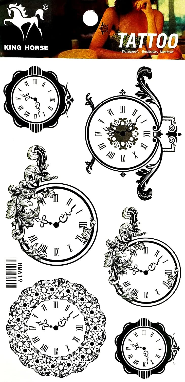 ONCEX Portland Genuine Free Shipping Mall Sheet Tattoos Temporary Fake Vintage T Water clock
