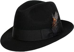 9th Street Hats 'Sinatra' Classic Brim Men's 100% Wool Fedora Hat