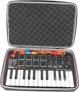 co2crea Hard Travel Case for Akai Professional MPK Mini MKII   25-Key Ultra-Portable USB MIDI Drum Pad Keyboard Controller...