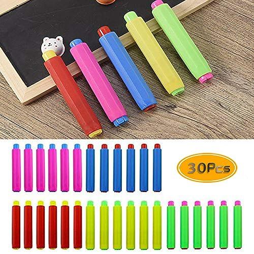 Auto-adjust Chalk Clip Magnetic Chalk Holder Chalkboard Accessories for Student Teacher Classroom Teaching R Dustless Double Spring Chalk Pen Holder SODIAL 6 Pcs//Pack