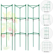 FANSRON Tomato Cages and Supports Deformable Multi-Functional Tomato Trellis Assembled Garden Stakes Climbing Plant Support 3 Pack
