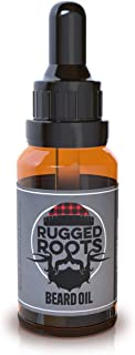 Beard Oil and Conditioner by Rugged Roots - Natural Beard Care Made with LumberJack Woodsy Scented Premium Oils - Softens Beard and Promotes Healthy Beard Growth - Unique Stocking Stuffers for Men