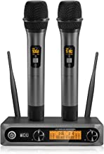 TONOR Wireless Microphone,Metal Dual Professional UHF Cordless Dynamic Mic Handheld..