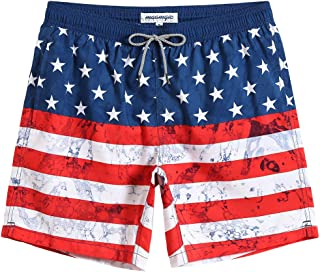 Mens Swim Trunks Quick Dry Funny Shorts with Mesh Lining Swimwear Bathing Suits